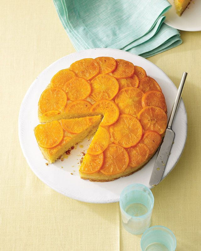 Satsuma Mandarin and Vanilla Upside-Down Cake by marthstewawrt #Cake #Satsuma #Vanilla
