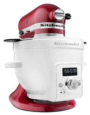 [New Product] KitchenAid Precise Heat Mixing Bowl can be used as a stand-alone slow cooker or with the KitchenAid® Stand Mixer to mix, knead, whip, stir and heat temperature-sensitive ingredients like cheese or chocolate.