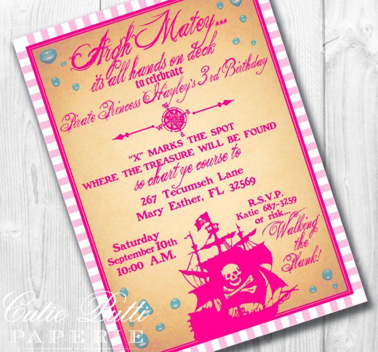 Girl Pirate Invitation Printable – orderecigsjuice.info