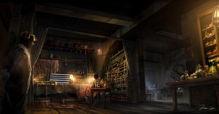 Haytham Doctor Cabin Operation_Assassina Creed 3, Max Qin on ArtStation at https://www.artstation.com/artwork/WZeN