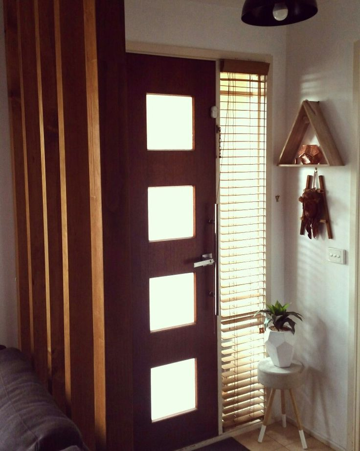 Entry to my abode with warm timber accents.