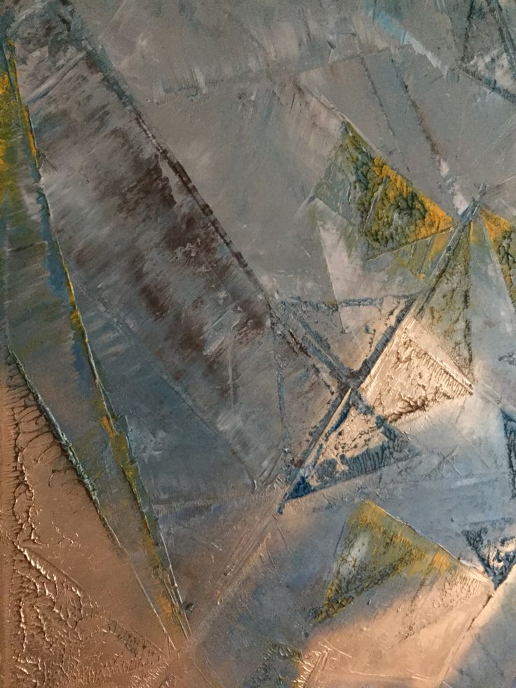 Geometric Abstrac oil painting