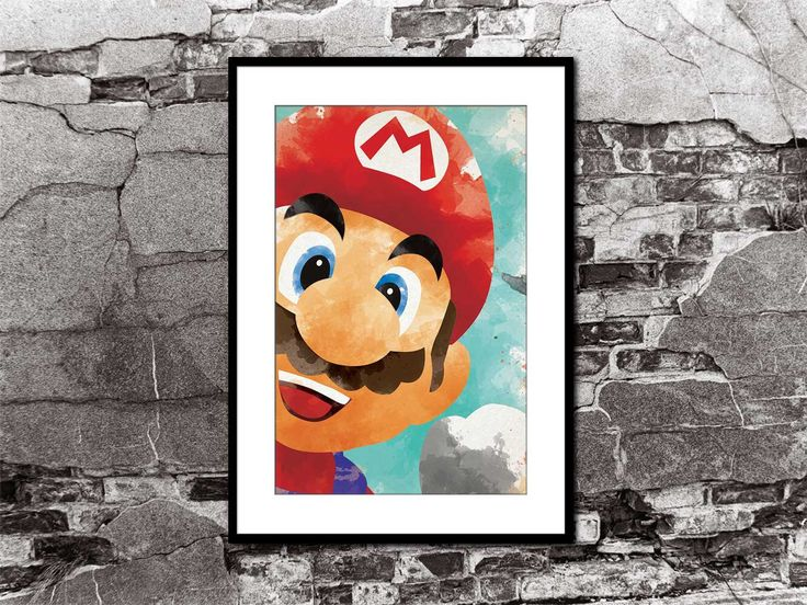 Mario Close Up Watercolor Poster Super Mario Brothers Smash Brothers Brawl Melee Video Game Art Nintendo by FADEGrafix on Etsy https://www.etsy.com/listing/237957396/mario-close-up-watercolor-poster-super