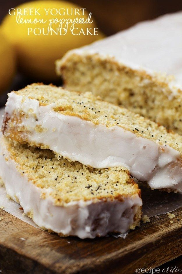 Healthy Greek Yogurt Lemon Poppyseed Pound Cake | 23 Whole-Grain Desserts You'll Actually Love