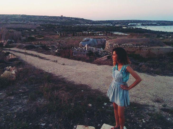 Twilight in Mellieha, Malta