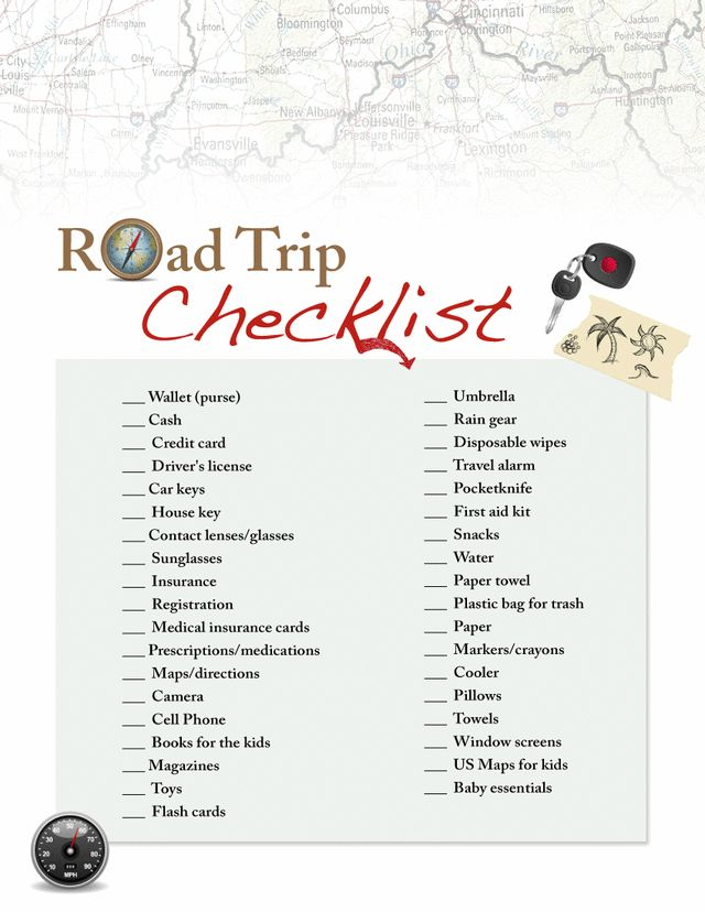 Best 25+ Road Trip Checklist Ideas Only On Pinterest | Road Trip