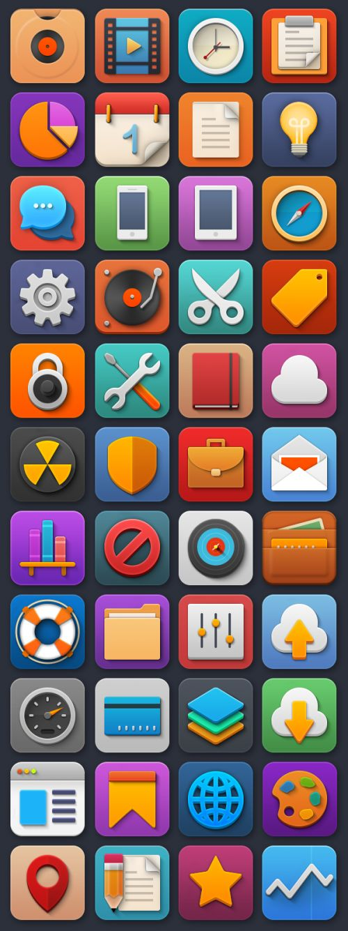 Softies: набор из 44 иконок