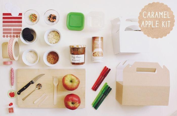 * magnoliaelectric: herbstwochen bei magnoliaelectric {DIY: caramel apple kit}: Gifts N Presents, Fun Recipes, Gift Ideas, Korea Uni, Herbstwochen Bei, Caramel Apples