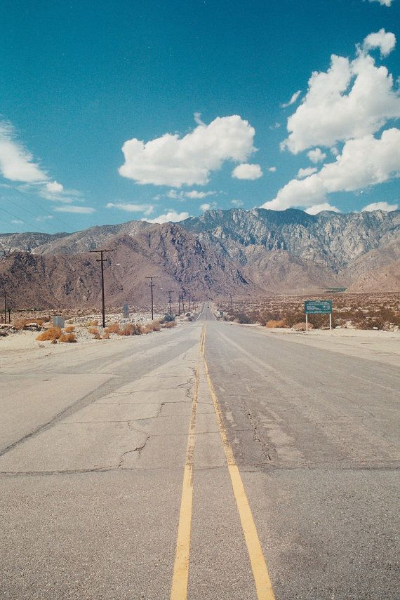 Desert Mountains, Palm Springs, CA.  35mm Film Photography Print.