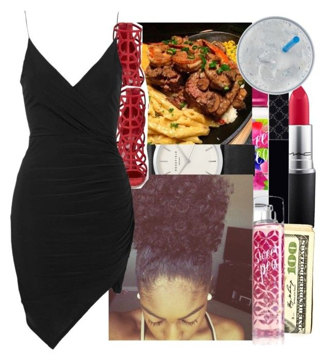 """""""Date Nighttttt"""" by wottice19 on Polyvore featuring MAC Cosmetics, Gucci, Sergio Rossi and Topshop"""