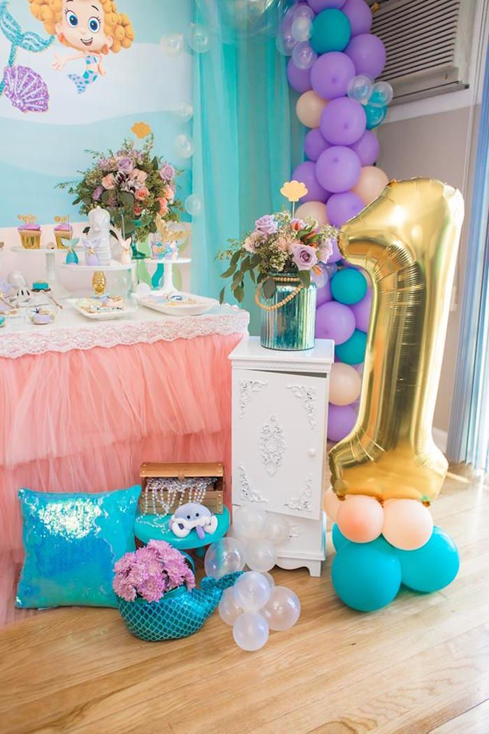 Bubble Guppies Birthday Party Kara S Party Ideas Bubble Guppies Birthday Bubble Guppies Birthday Party Birthday Party Balloon