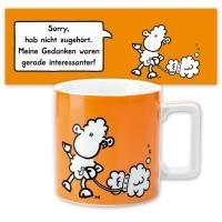 Tasse groß »Wortheld« orange 0,45l