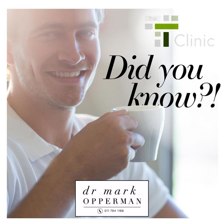 A low testosterone level by itself doesn't need treatment. Only men with symptoms of low testosterone and blood levels that confirm this as the cause of symptoms should consider testosterone replacement. This is why at The-T-Clinic each patient is sent for comprehensive blood tests to determine whether testosterone is low or whether there are other hormonal issues. Dr Opperman goes through the test results with the patient and will work out a course of action, especially suited to the…