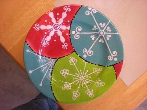 Retro Snowflake Platter by The Pottery Stop Gallery!