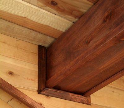 Mock trimber frame wrapped beam dream home pinterest for Half concrete half wood house design