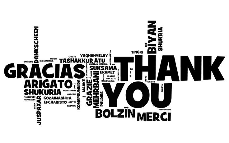 """""""Danke"""" ist ein wichtiges Wort. Auf wie vielen Sprachen kannst du es sagen?"""