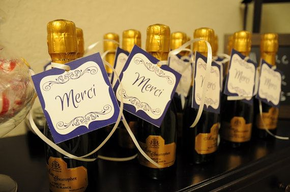 Parisian Theme Merci Favor Tag-French Themed Favor Tag-Paris Themed Party- French Themed Baby Shower Favor Tag- Parisian Theme