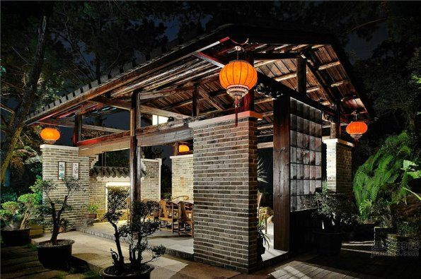 Traditional chinese house style in a modern design for Asian architecture house design