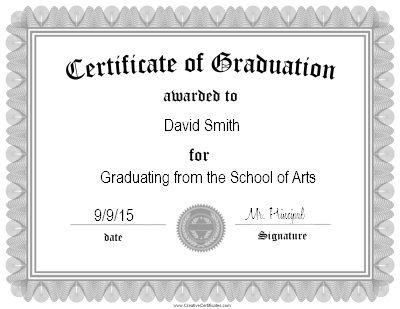 Best 25+ Graduation certificate template ideas on Pinterest - Award Certificate Template Word