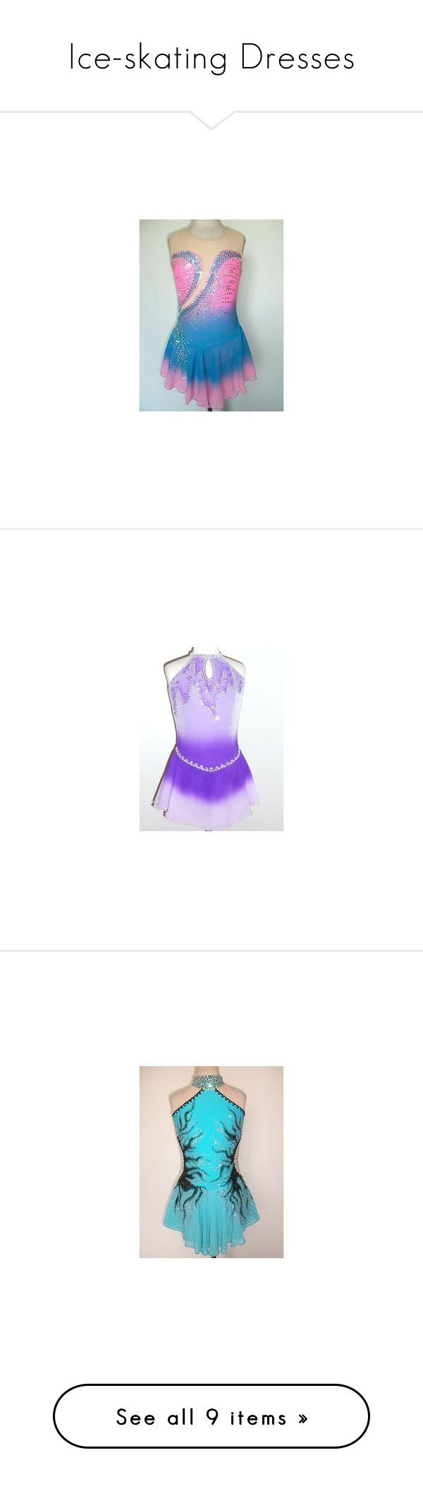"""Ice-skating Dresses"" by frozen1-1 ❤ liked on Polyvore featuring dresses, ice skating, lullabies, sports dress, sport dress, metallic dress, purple cocktail dresses, metallic cocktail dress, purple dress and figure skating"