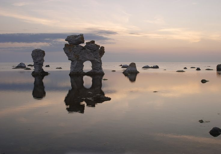 Rock formations (Rauk) at Fårö, Gotland