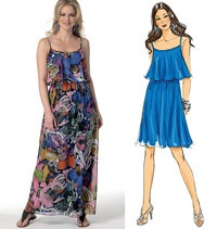 Misses Dress Butterick Sewing Pattern No. 5755. Size 6-14.