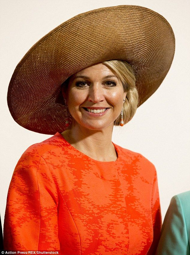 Queen Maxima opted for her favourite wide-brimmed hat, that she has worn six times before, for an award ceremony in Middleburg, Netherlands on 21 April 2016