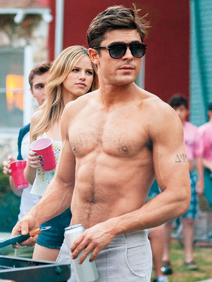Hello, Abs: The Top 15 Sexiest Shirtless Scenes in Film History   ZAC EFRON, NEIGHBORS   Let's face it: It wouldn't be that hard to deal with obnoxious frat boy next-door neighbors if they all had bodies like Efron's.