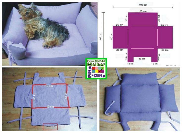 Hundebett selber machen. Kostenloses Tutorial / Anleitung - Hundebett oder Schlafkissen selber nähen (engl.)