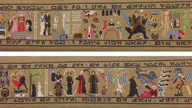 """Tapisserie """"Star wars"""", inspirée de la tapisserie de Bayeux © DR"""