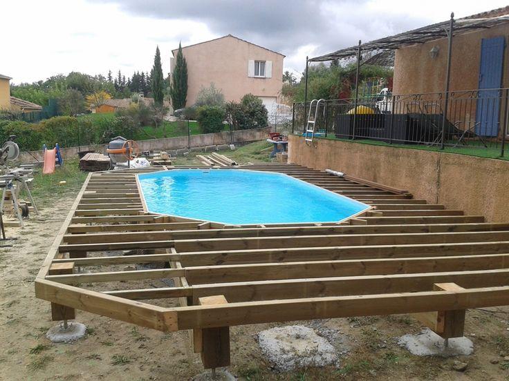 Beau Piscine Tubulaire Intex Rectangulaire In 2020 Gartenpools Pool Terrasse Pool Im Garten