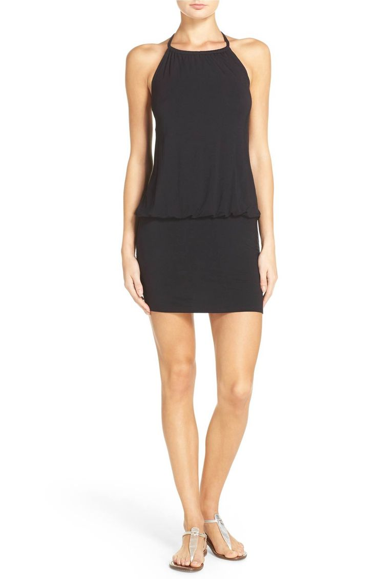 Main Image - Laundry by Shelli Segal Blouson Cover-Up Dress