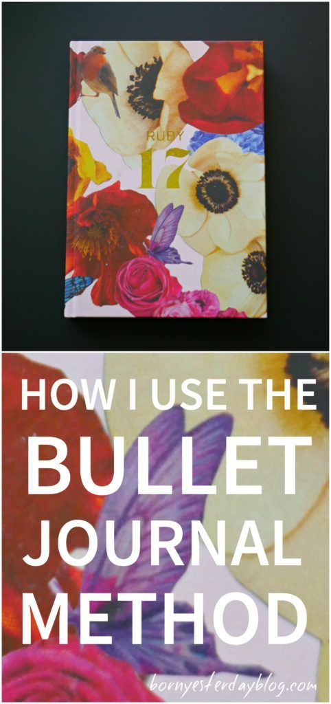 How I use the Bullet Journal method