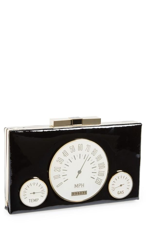 retro-chic dashboard design clutch by Kate spade New York