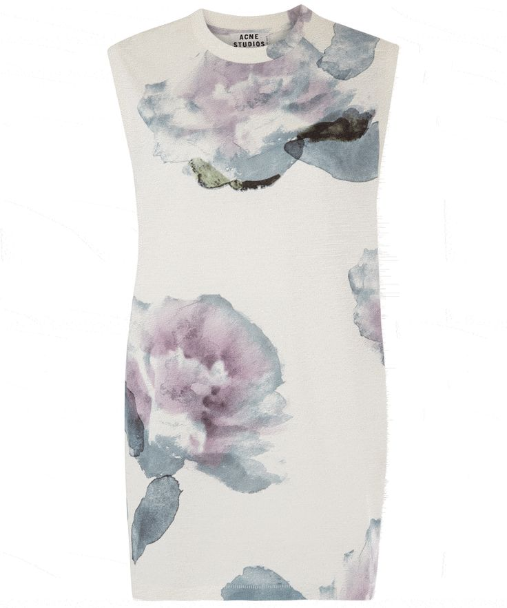 Acne White Zone Merci Floral Print Top. Shop now to receive 15% discount!
