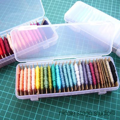 67 Best Embroidery Floss Storage Images On Pinterest | Embroidery Floss Storage Organization ...