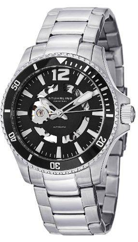 Reloj Stuhrling Original Aquadiver Makran Automático Negro 772.01  | Antes: $1,605,000.00, HOY: $441,000.00