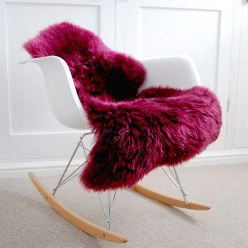 plum on chair