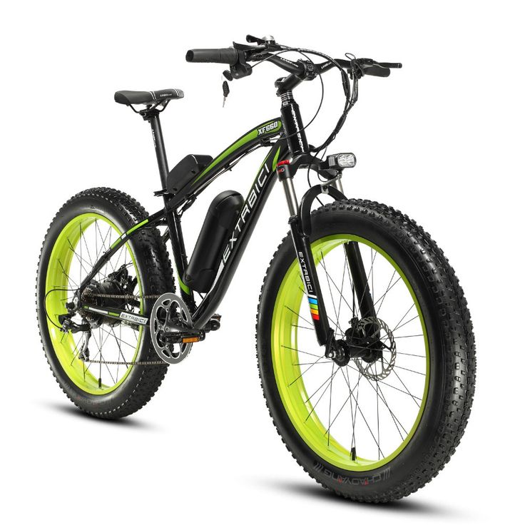 4.0 Fat Tire Electric Mountain Bike for Man 500Watt 48V 10.4ah Lithium Battery XF660 Extrbici All Road Conditions Cycling Model