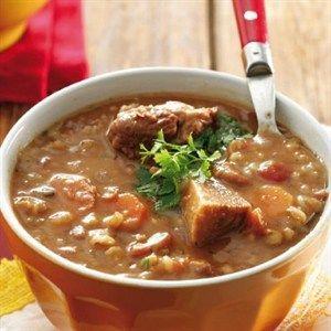 Barley & bean_meat_soup