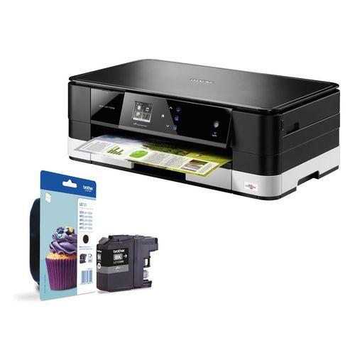 Pack multifonction A3 Wi-Fi ultra-compacte - DCP-J4110DW + 1 Cartouche d'encre Noire - LC123BK