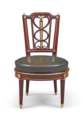 A GERMAN ORMOLU-MOUNTED MAHOGANY CHAIR   ATTRIBUTED TO DAVID ROENTGEN, CIRCA 1785