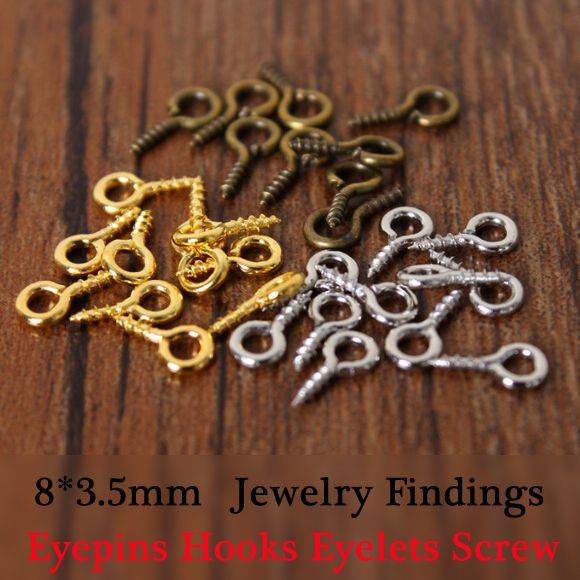 Cheap findings for jewelry, Buy Quality jewelry findings pins directly from China jewelry pattern Suppliers:  Name:Eyepins Hooks Eyelets Screw   Size :8mm   Quantity:100pcs/lot   Weight:20g/100pcs   Title:100pcs Small Tiny Mini E