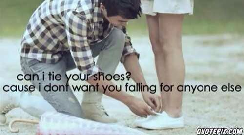 Would it be right for a girl to tie a guy's shoe? o_o