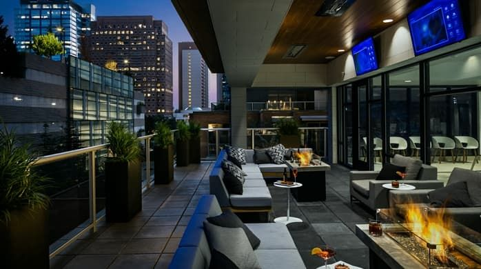 Hilton Garden Inn Patio On 2nd Floor Upgrade To Suites 340 440 540 640 240 Handicapped Parking For 10 Next Door Seattle Hotels Hotel Hilton Garden Inn