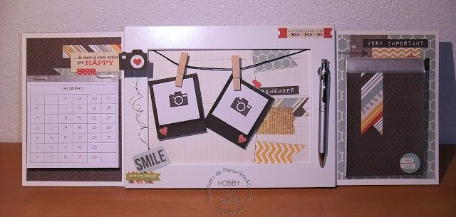 Hobby di Carta - Il blog: HOME DECOR: ..una cornicetta.. un calendario.. un notes.. per una scrivania! - Manu Arte&Cuore