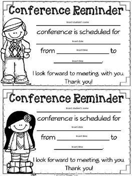 PARENT TEACHER CONFERENCE FORMS {FREEBIE} - TeachersPayTeachers.com