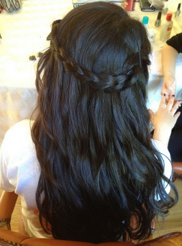 Braided, Waterfall Braid Hairstyles For Black Hair: Alluring Waterfall Braid Hairstyles