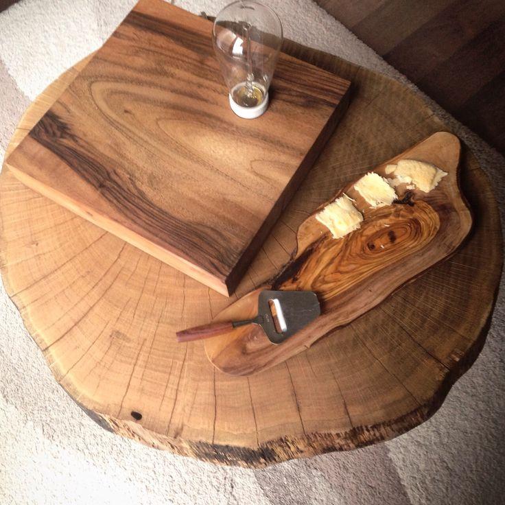 Zeytin peynir tahtası, ceviz masa lambası...