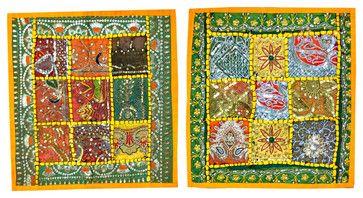 Green Yellow Cushion Cover  Bohemian Decor, Set of 2 asian-pillowcases-and-shams #cushion cover #boho pillowcase #throw #indian sham #home decor #designer pillow case #decoartive #home decor #sofa sushion cover